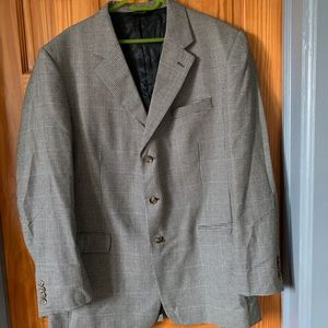 Jos A. Bank Checkered Suit Jacket 46L